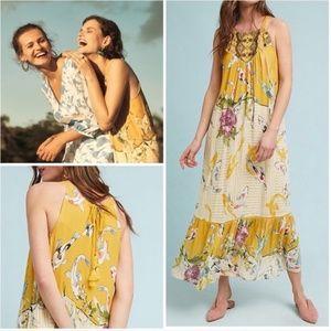 NWT Anthro Paradiso Halter Maxi Dress (Small P)